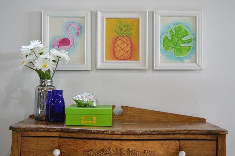 Chalk paint picture frames